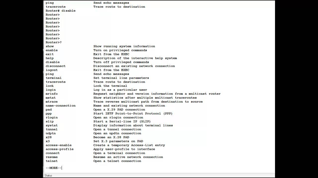 CISCO Networking Command Line Interface Introduction CCNA