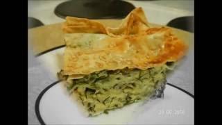Слоеный пирог из Армянского Лаваша с сыром зеленью и грибами в духовке!