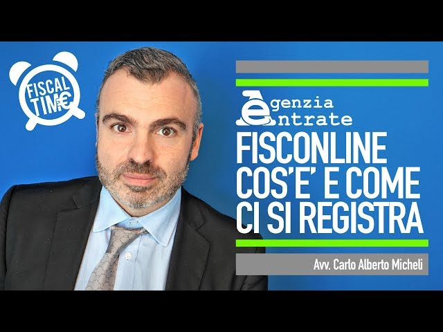 FISCONLINE   COS'E' E COME CI SI REGISTRA