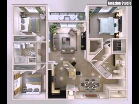 kleine schlafzimmer haus plan youtube. Black Bedroom Furniture Sets. Home Design Ideas