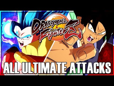 Dragon Ball FighterZ - All Ultimate Attacks and Transformations [w/ Season 1-2 DLC] |