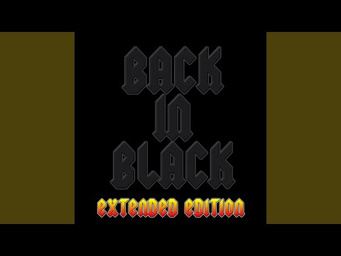 Back In Black (as made famous by AC/DC) music