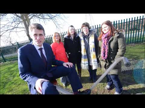 Defence secretary, Gavin Williamson, opens outdoor gym in Coven