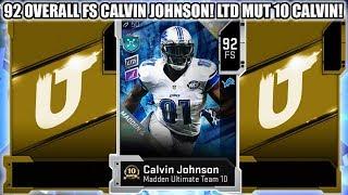 92 OVERALL FS CALVIN JOHNSON! LTD MUT 10 CALVIN JOHNSON! | MADDEN 20 ULTIMATE TEAM