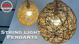 Easy DIY String Pendant Light / Lamp