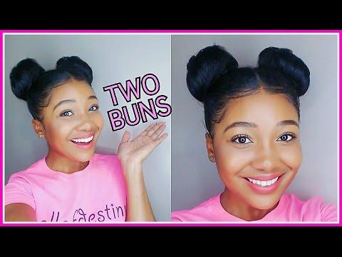 Two Buns Hair Tutorial Double Bunsl Youtube