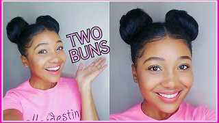Two Buns Hair Tutorial!!!