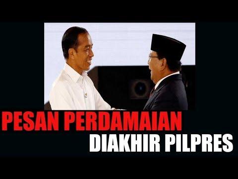 INDONESIA ELECTIONS 2019 PESAN PERDAMAIAN BUAT KUBU PAK JOKOWI DAN KUBU PAK PRABOWO SUBIANTO