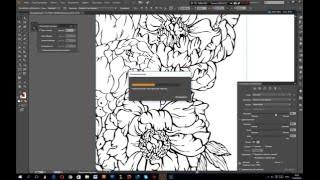 Урок Adobe Illustrator CC. Рисунок нарисованный тушью переводим в вектор.