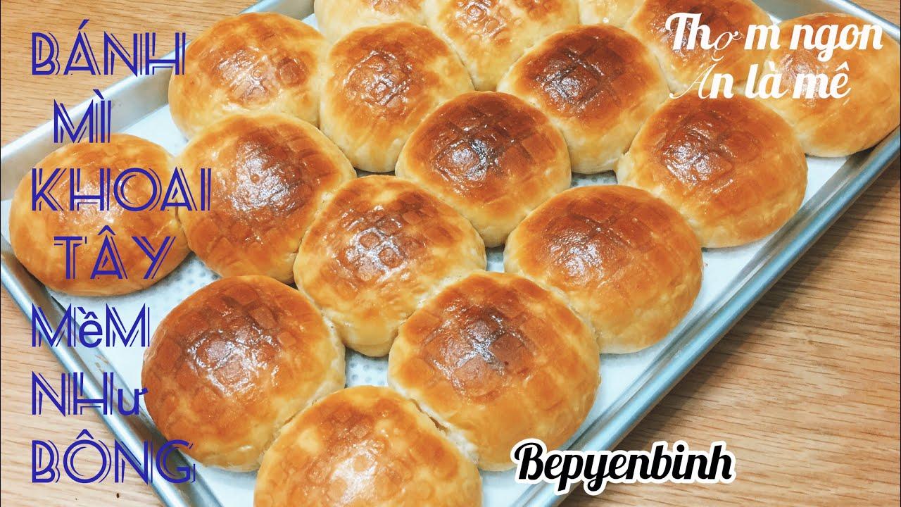 Cách làm bánh mì khoai tây mềm mịn như bông Potato bread Bếp Yên Bình.