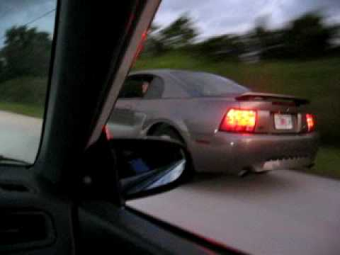 b16a eg coupe vs. mustang gt w/ exhaust