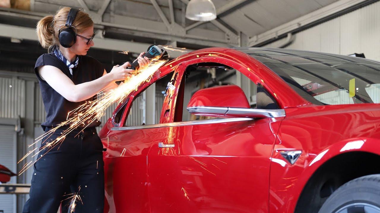 Žena vyrobila Tesla super pick-up, ktorý Tesla neponúka