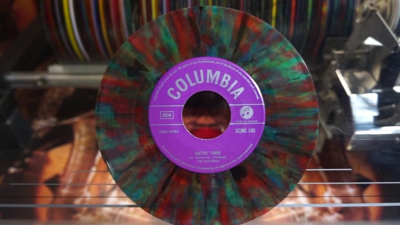 Jonnie's Jukebox Plays: Guitar Tango - The Shadows 1962 Multicolour Vinyl 45rpm Record