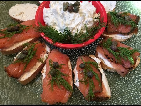 EASY To Make Cream Cheese Dip For Smoked Salmon Appetizer