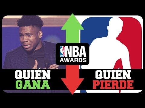 GANADORES Y PERDEDORES DE LOS PREMIOS NBA 2019