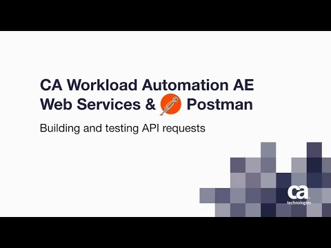 CA Workload Automation AE: Web Services