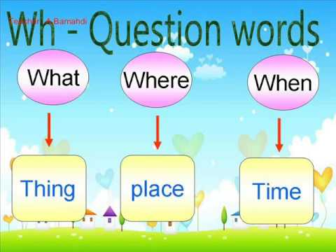 Wh- Questions with present simple