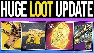 Destiny 2 | HUGE REWARDS UPDATE! Vendor Changes, Exotic Rolls, RNG Fixes u0026 Catalysts (April Update)