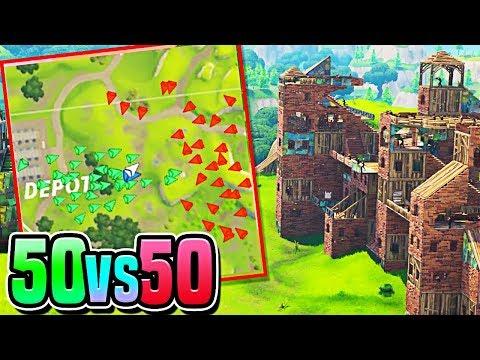 *NEW* 50vs50 Fortnite UPDATE! - 50v50 Victory Royale