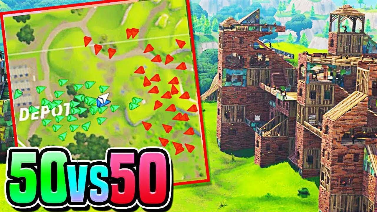 *NEW* 50vs50 Fortnite UPDATE! - 50v50 Victory Royale