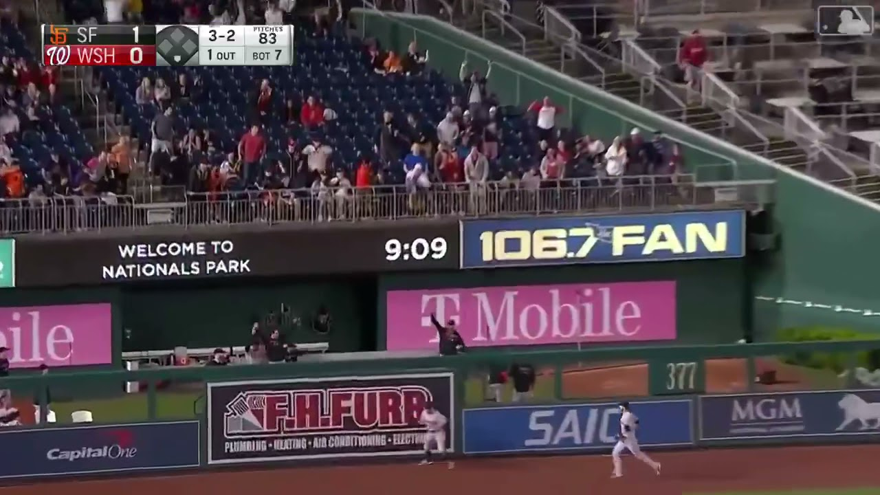 Mike Tauchman Robs Juan Soto of a Home Run