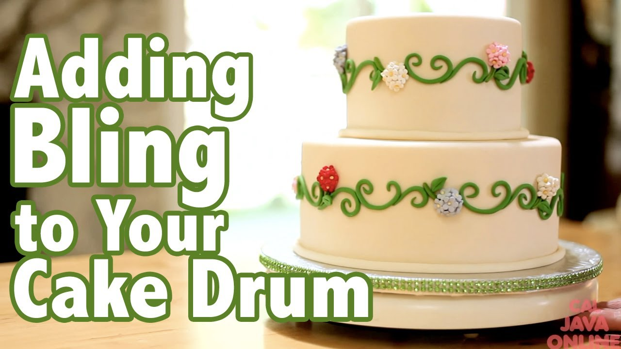 How to add Bling to your Cake Drums | Cake Tutorials - YouTube