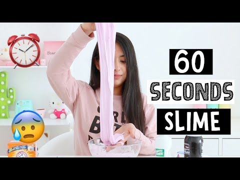TRYING TO MAKE SLIME IN 60 SECONDS!