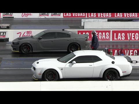 2020 Hellcat Redeye vs Hellcat Charger and Dodge Demon vs Hellcat Charger – muscle cars drag racing