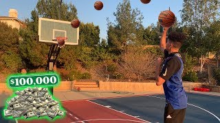 10 3-Pointers in A ROW Challenge with One Arm for $100,000!