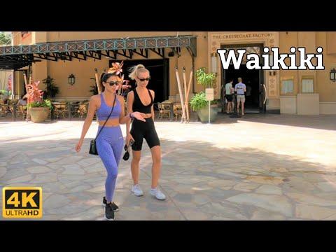 [4K] HAWAII - Waikiki Kalakaua Ave. - Sheraton Hotel to Queen's Beach Virtual Walking Tour