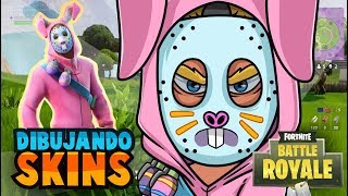 Drawing skin from Fortnite Battle Royale - Speed Drawing Rabbit Raider