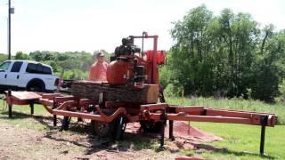 Hard as iron; reclaimed Black Oak??? Dust in Face! No Problem Wood-Mizer!