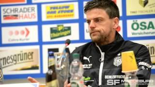 Pressekonferenz - 1. FC Magdeburg gegen FSV Zwickau - www.sportfotos-md.de