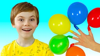 Nick and Poli plays with Balloons | Daddy Finger Nursery Rhymes | 동요와 아이 노래 | 어린이 교육