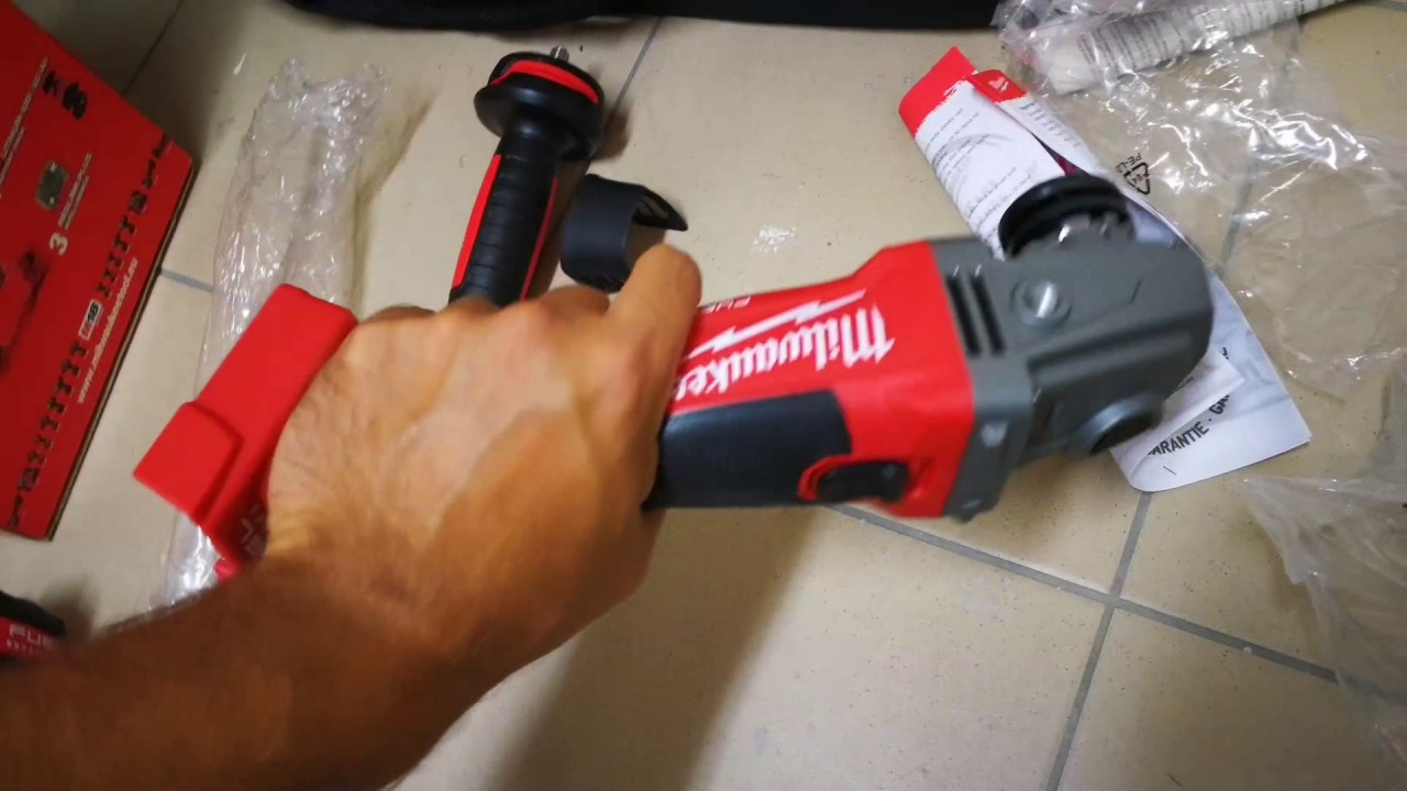 unpacking unboxing angle grinder milwaukee m18 cag125x 0 493344394