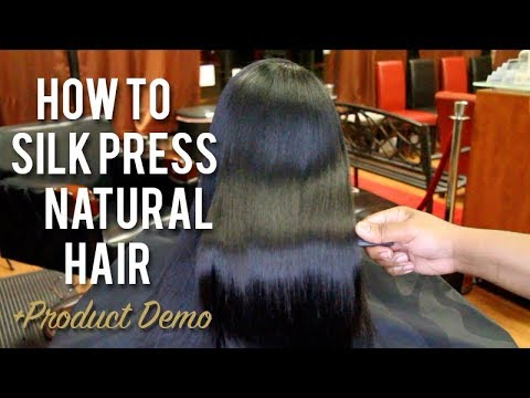 How To SILK PRESS Natural Hair   Tutorial + Product Demo