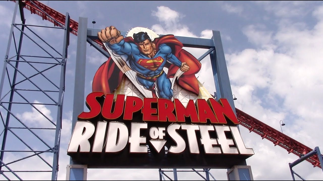 Superman: Ride of Steel Review Six Flags America Intamin ...