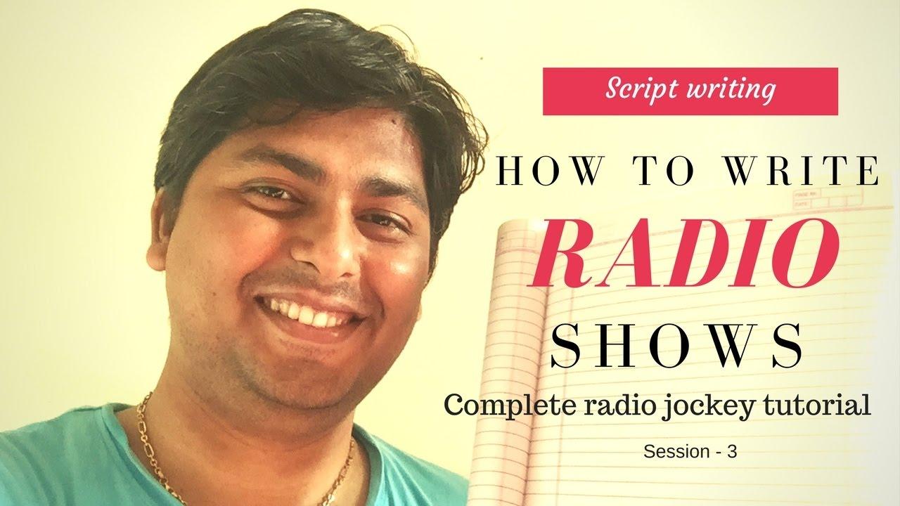 How to write a radio script - how to write a radio show