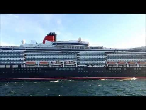 Three Cunard Queens in Lisbon 6th May 2014