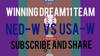 NED-W VS USA-W volleyball team dream 11