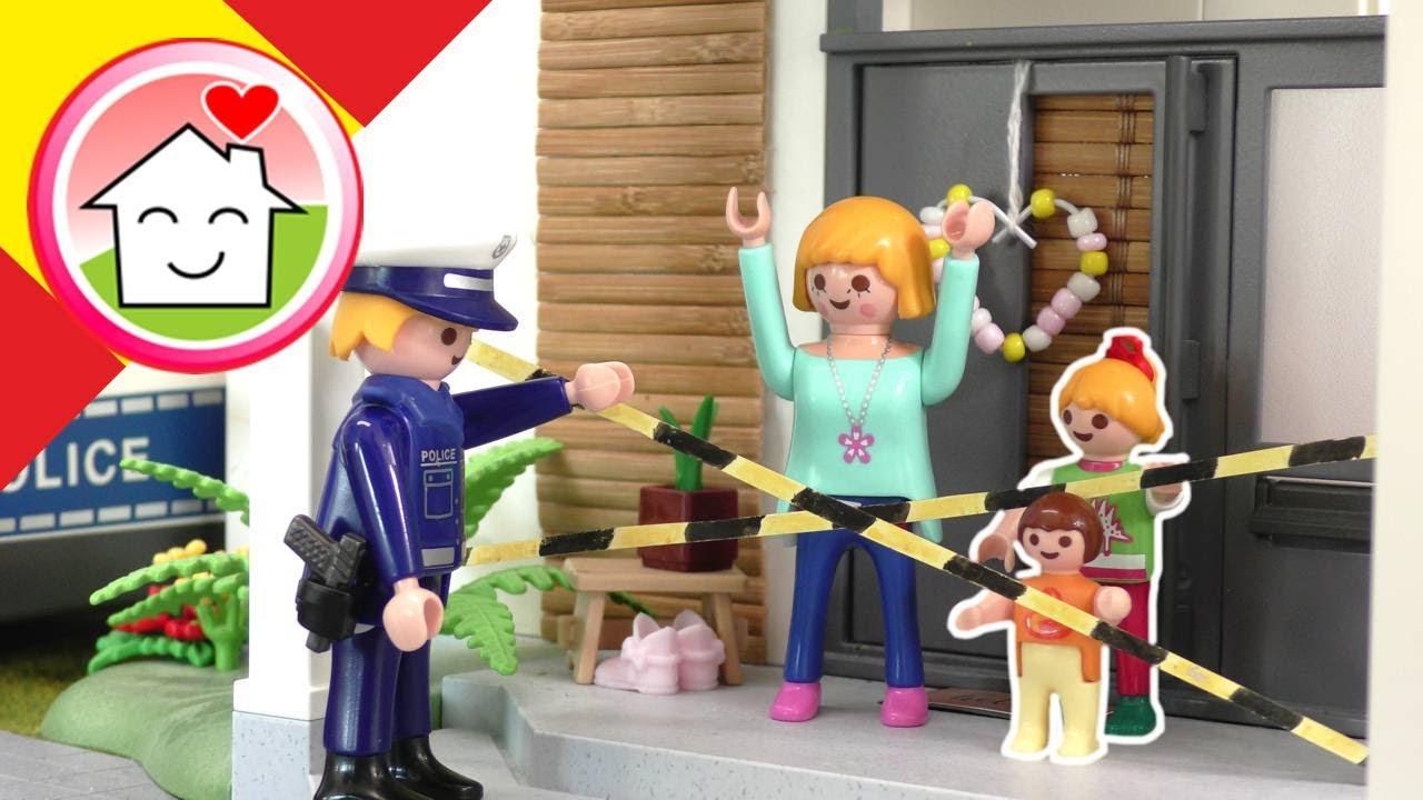 Playmobil policía en español - Robo en casa de la familia Hauser