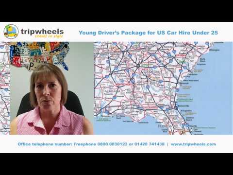 Young Driver's Package for US Car Hire Under 25