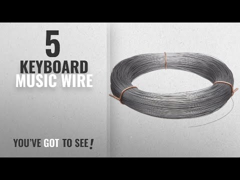Top 10 Keyboard Music Wire [2018]: High Carbon Steel Wire, Mill Finish #2B (Smooth) Finish, Grade
