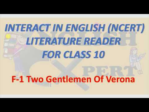 Two Gentlemen of Verona (F1)-NCERT Lit. Reader for class 10