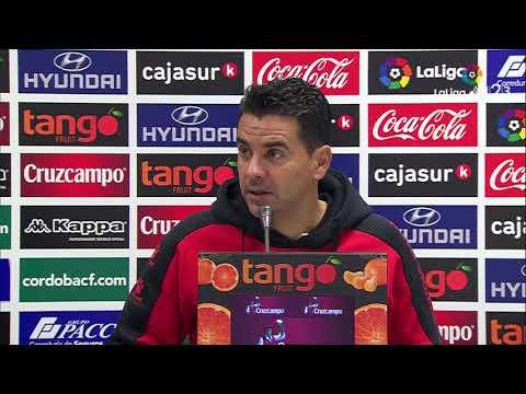 Rueda de prensa de Míchel tras el Córdoba CF vs Rayo Vallecano (2-2)