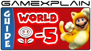 Super Mario 3D World - World Flower-5 Green Stars & Stamp Locations Guide & Walkthrough