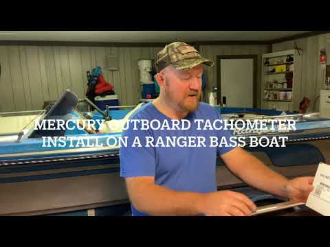 Mercury Outboard Tachometer Install/ bass boat restoration