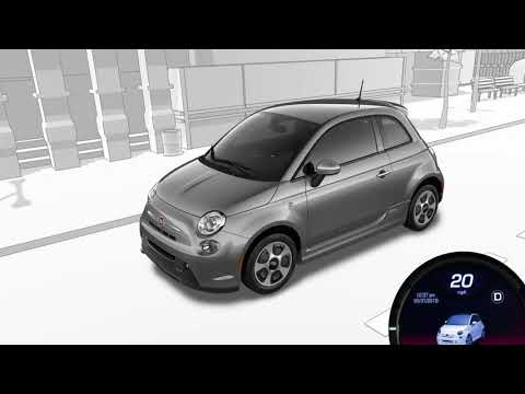 Audible Pedestrian Warning System-Pedestrian noise alert on 2018 Fiat 500e electric car.