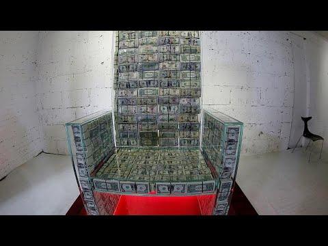 Made of money? Russia artist and billionaire make $1m throne