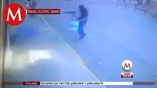 Momento del asesinato a comandante en Ecatepec